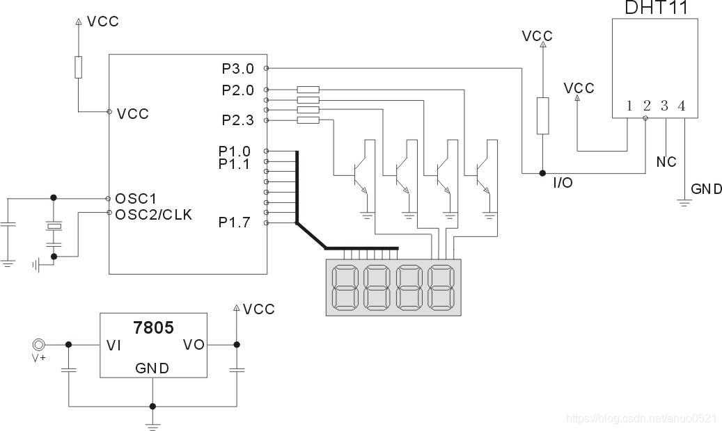 DHT11典型电路图