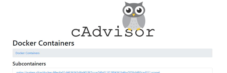 docker容器监控——cAdvisor