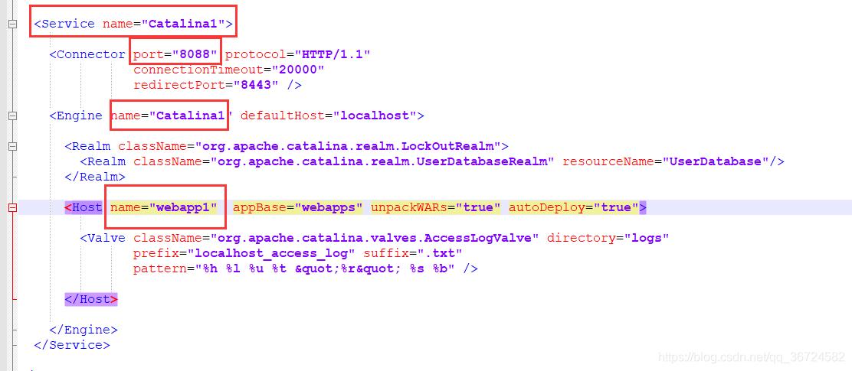 修改Tomcat\conf文件夹下的server.xml文件