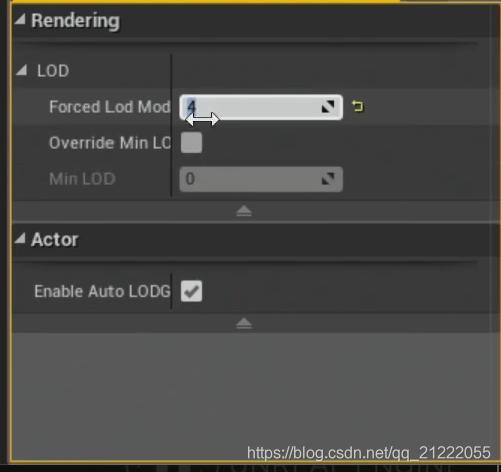 强制渲染指定等级的LOD