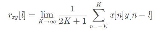 功率信号互相关公式
