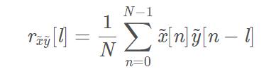 周期信号互相关序列