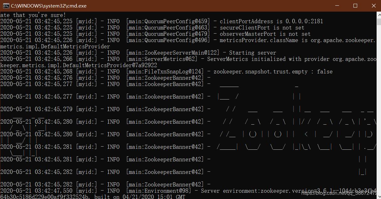 启动zk服务器