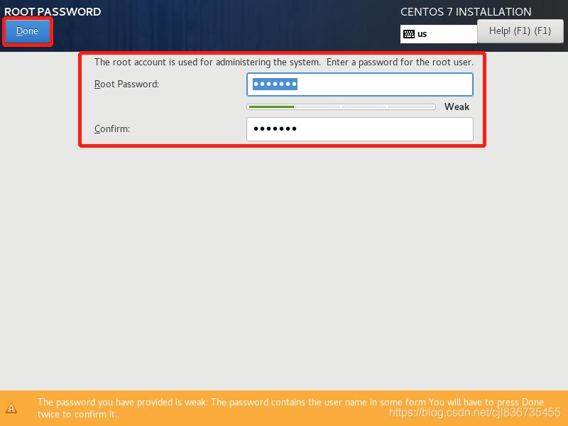 设置root用户密码