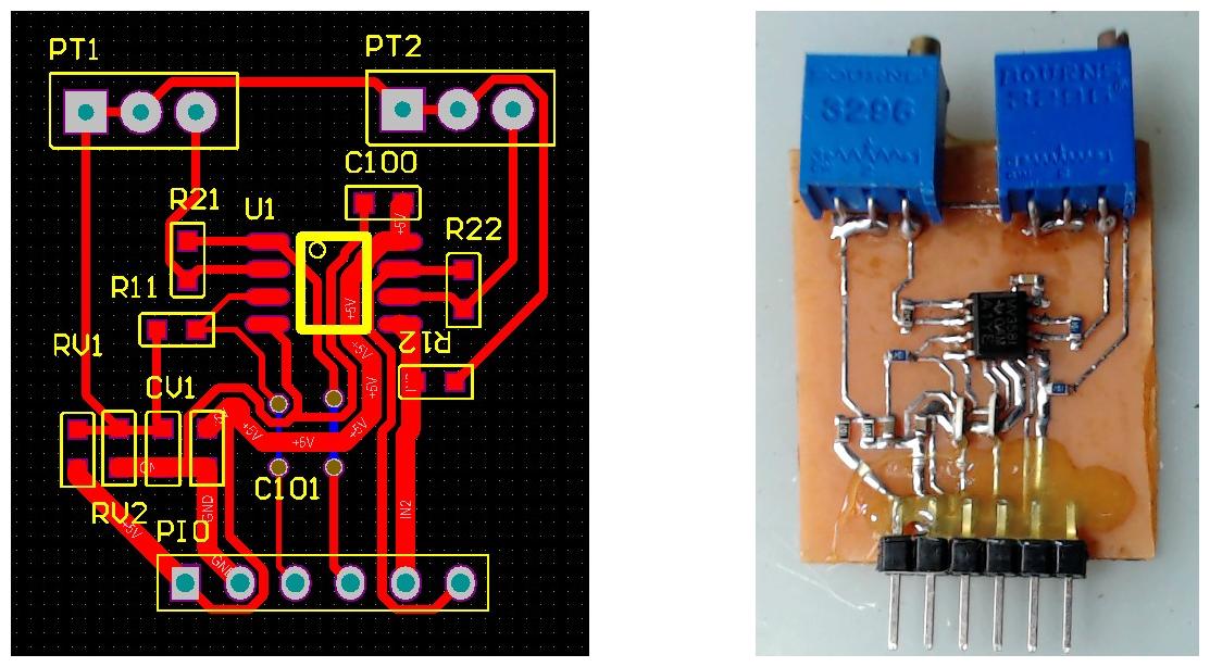 ▲ 设计和制作的PCB