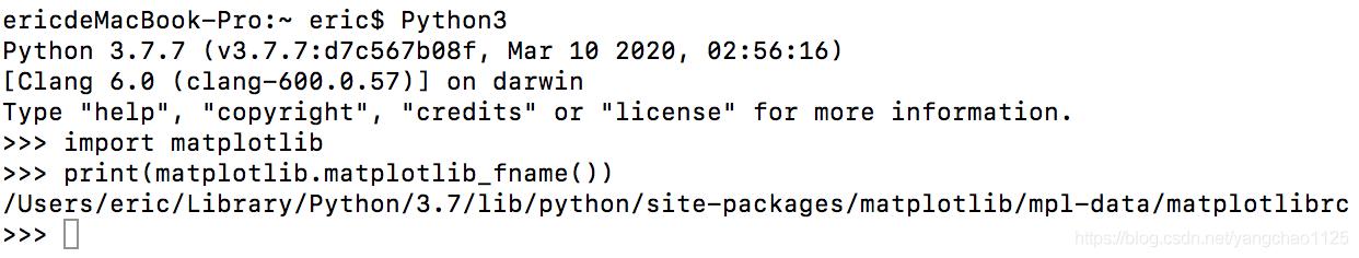 获得 matplotlib 的安装路径