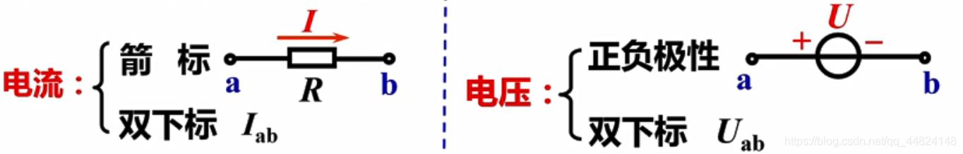 标一C。电流:<aRb,双下标Ii