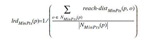 对象p的局部可达密度计算公式