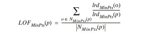 对象p的局部异常因子计算公式