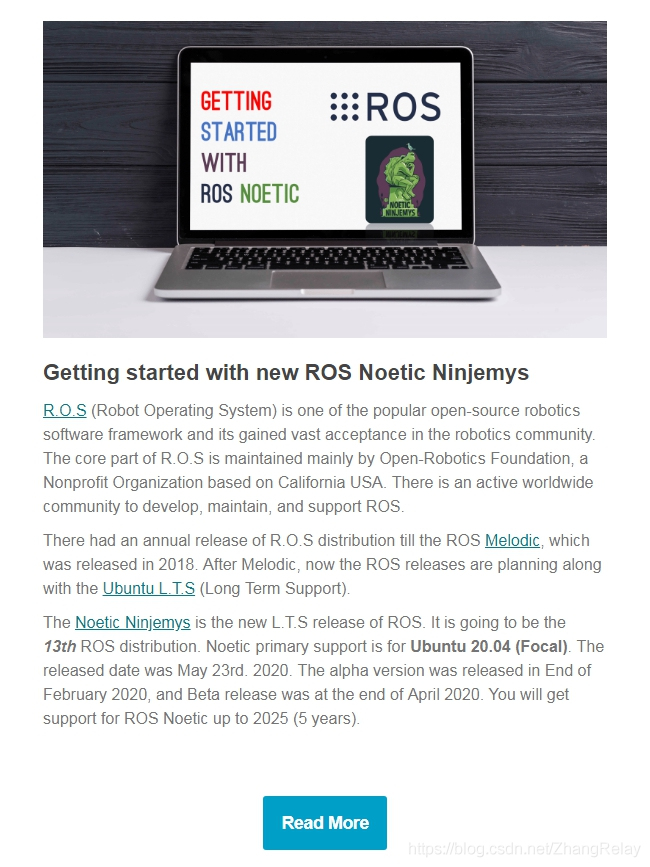 ROS Noetic Ninjemys遇见Ubuntu 20.04插图(1)