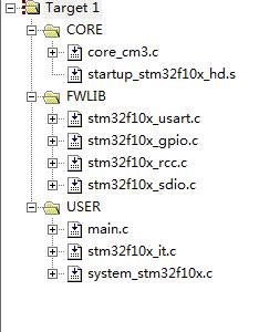 工程文件树