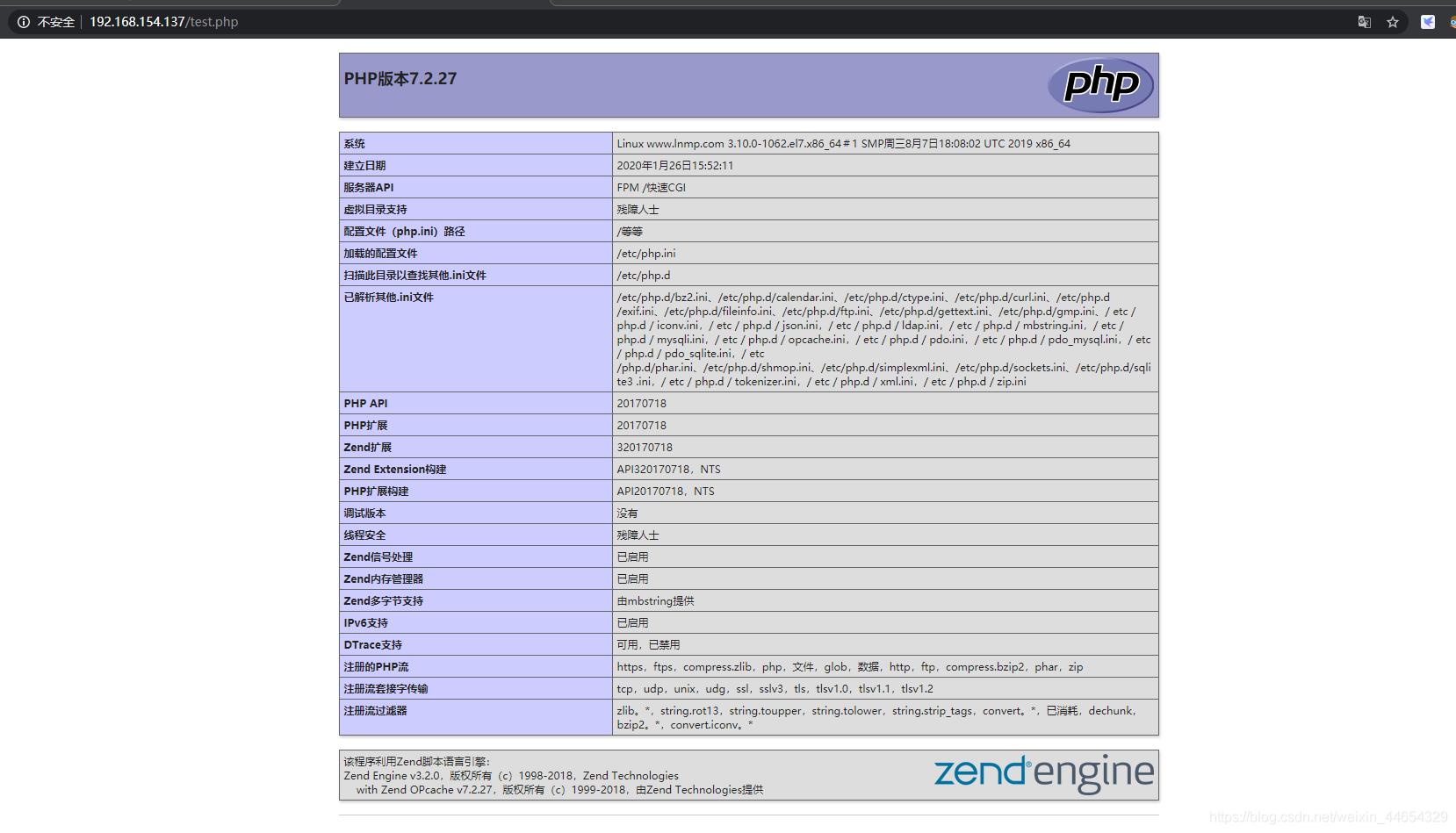 Centos7-Nginx1.8.1 搭建LNMP环境部署插图