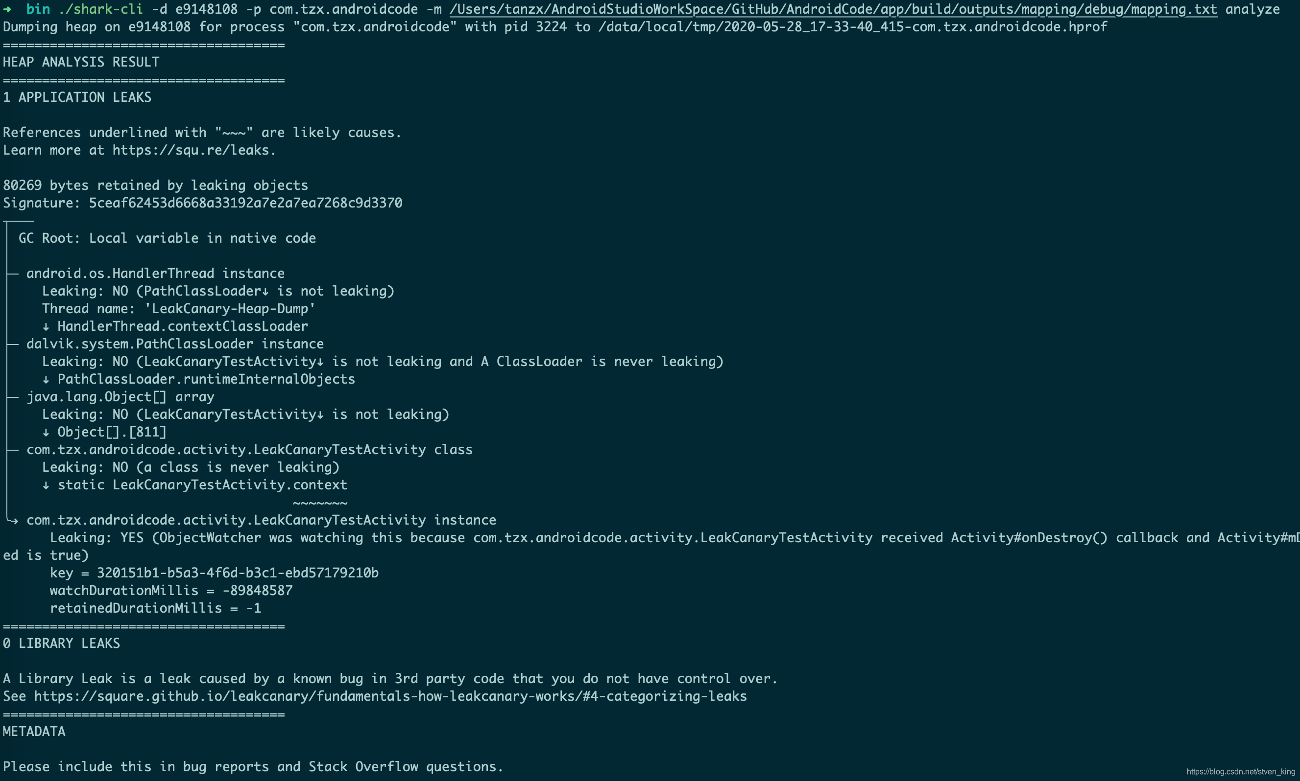 shark-cli-analyze-mapping