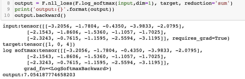 【pytorch笔记】损失函数nll_loss
