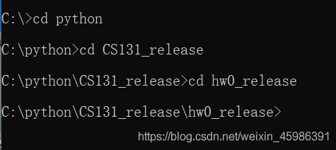 格式就是cd+空格+文件名字