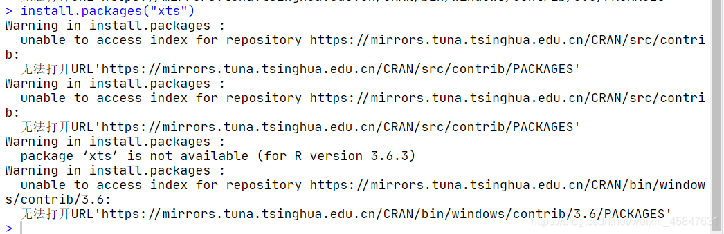 类似于这样的无法打开URL,其他的包也是这样基本