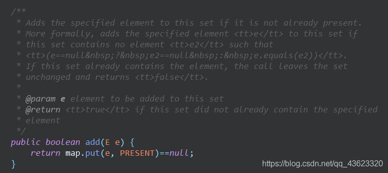 HashSet的add方法底层原理图
