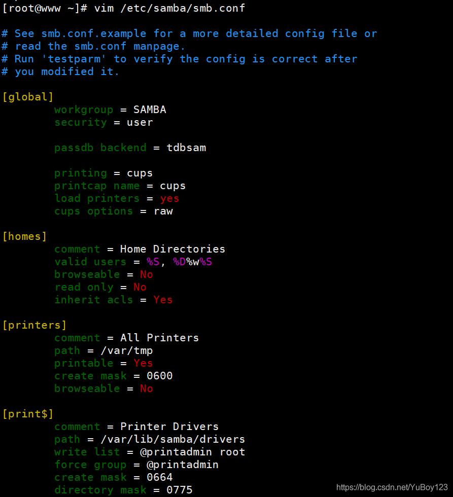 Samba文件共享服务YuBoy123的博客-