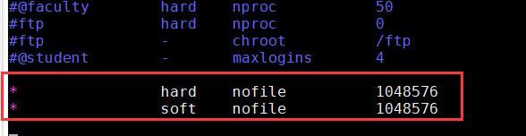 修改/etc/security/limits.conf配置文件
