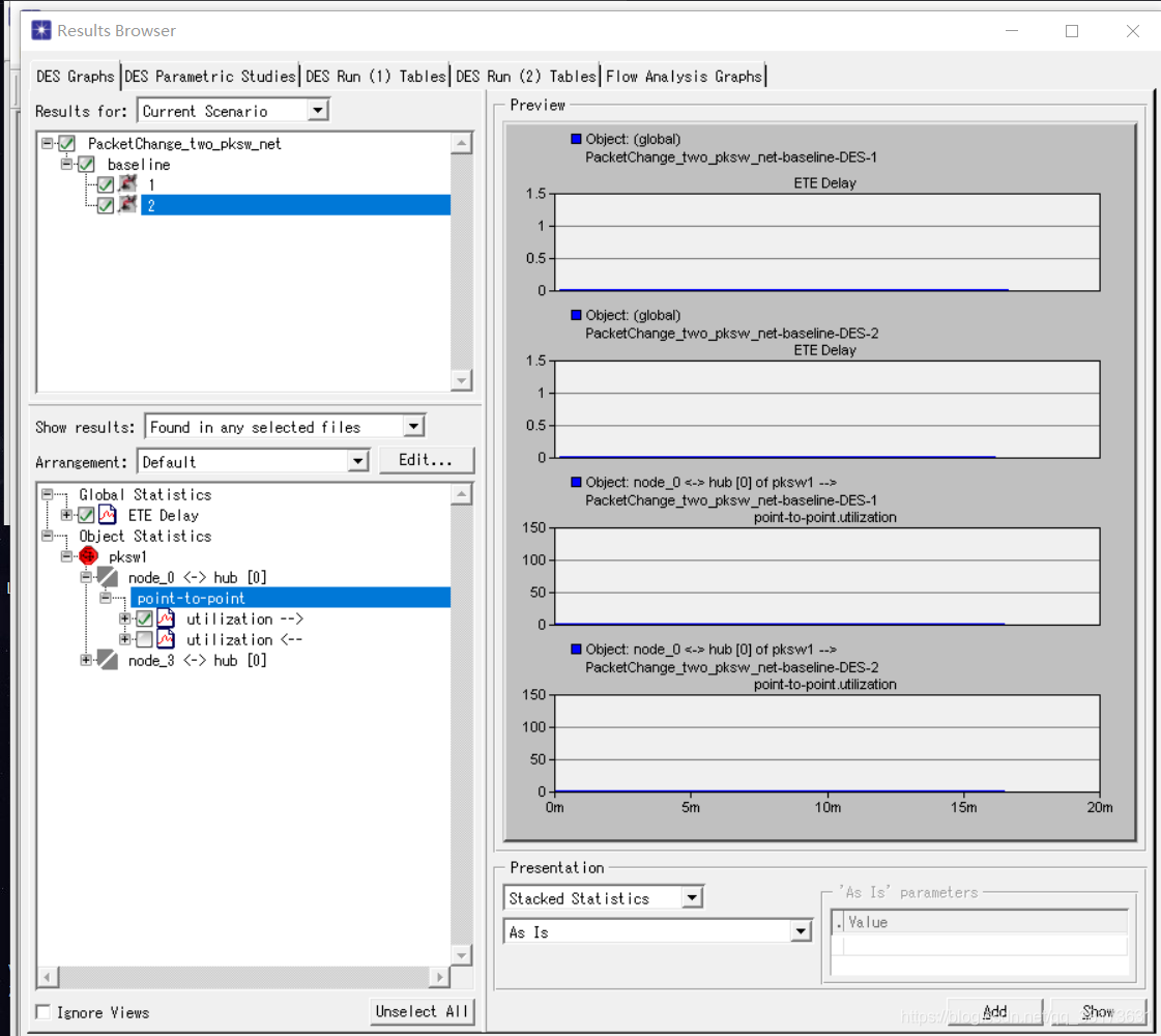 OPNET仿真2.5节包交换例程无实验数据解决方案