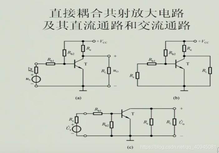 直接耦合共射放大电路及其直流通路和交流通路