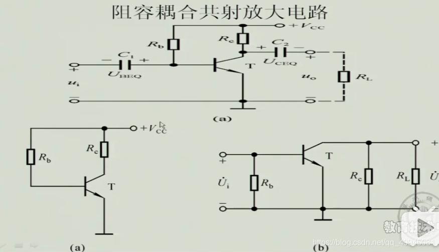 阻容耦合共射放大电路的直流通路和交流通路