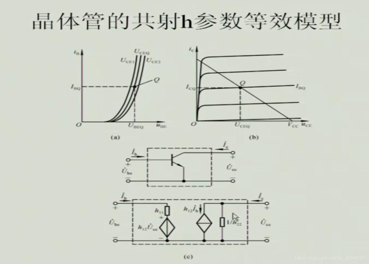 晶体管三极管h参数等效模型
