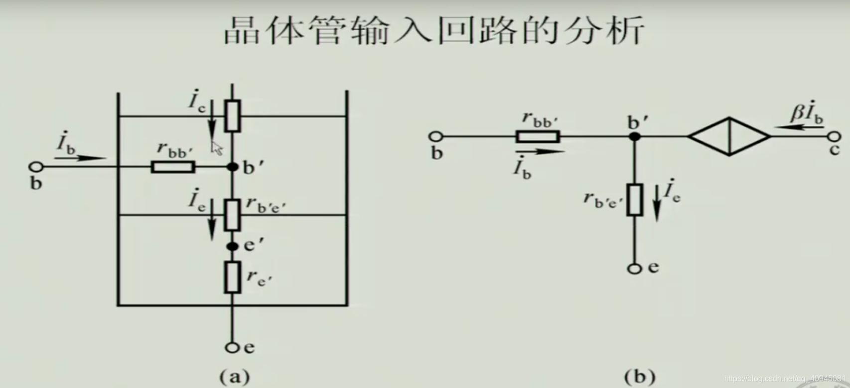 晶体管输入回路的分析