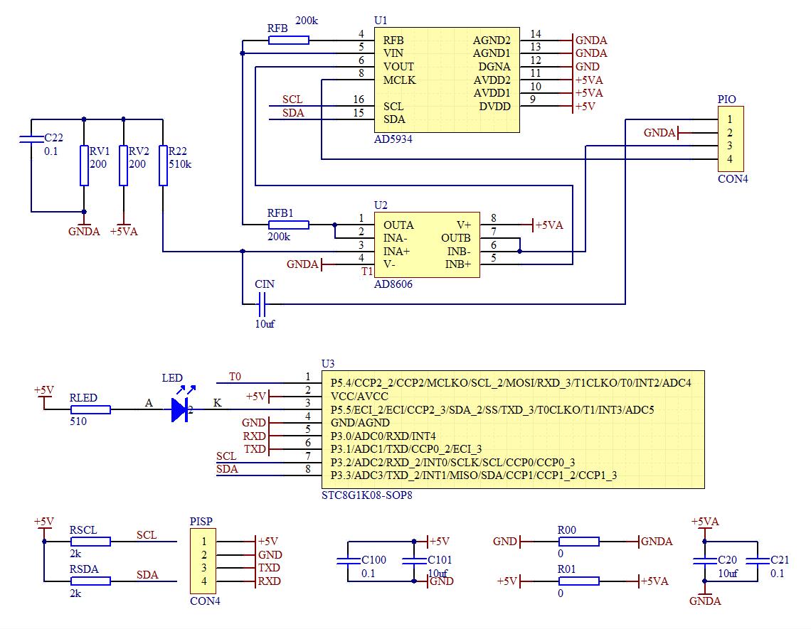 ▲ 实验电路板 原理图