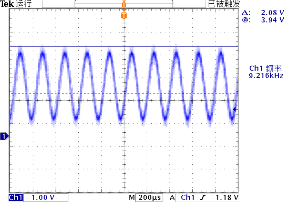 ▲ 输出信号的波形和幅值