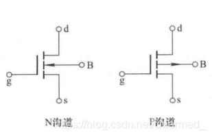 N沟道和P沟道增强型MOS管的电气符号