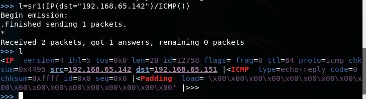 菜鸟渗透日记27---python渗透测试编程之安全渗透常见模块3-Scapy