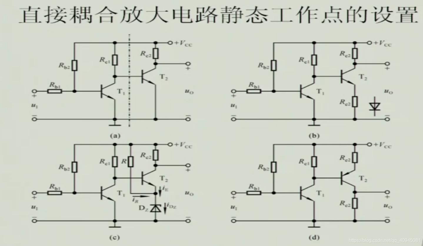 直接耦合放大电路静态工作点的设置
