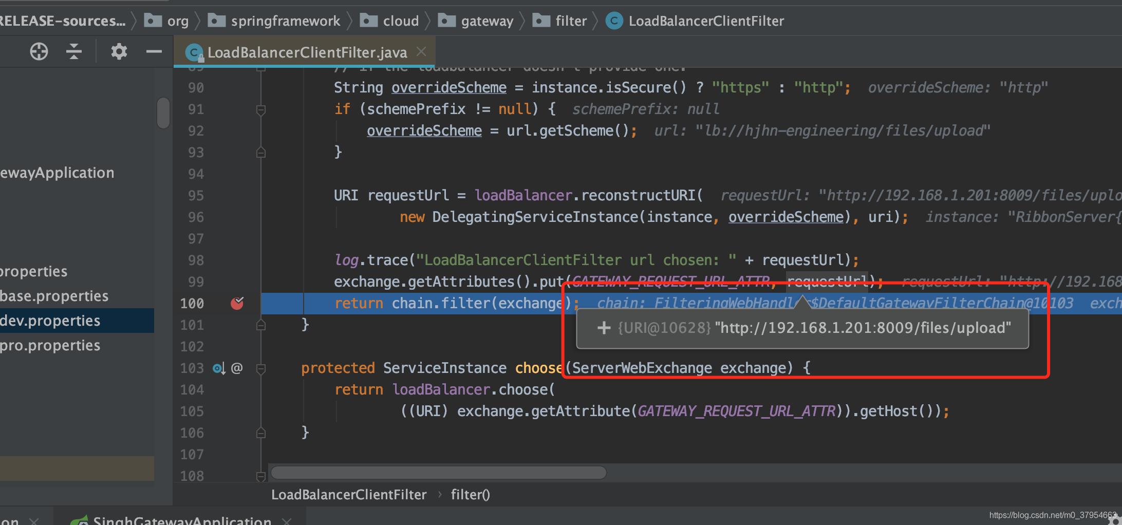 使用Gateway自定义负载均衡过滤器