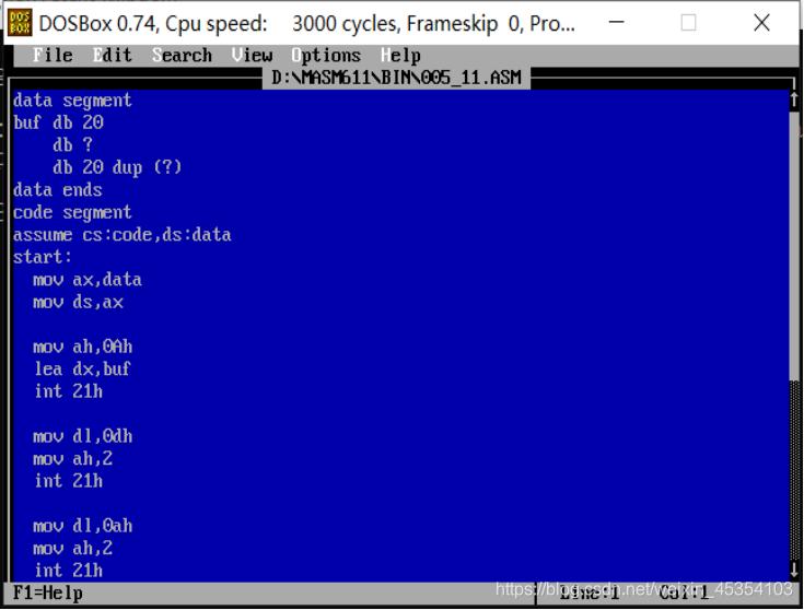 从键盘输入字符串,按回车键结束,在第二行显示输入内容。