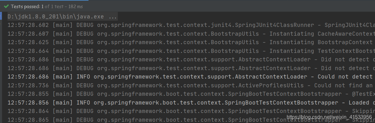 Spring boot-测试类-启动报错【java.lang.Exception: No runnable methods】的解决办法