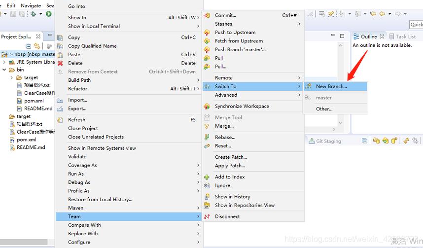 Eclipse整合Git发布分支到远程仓库_1