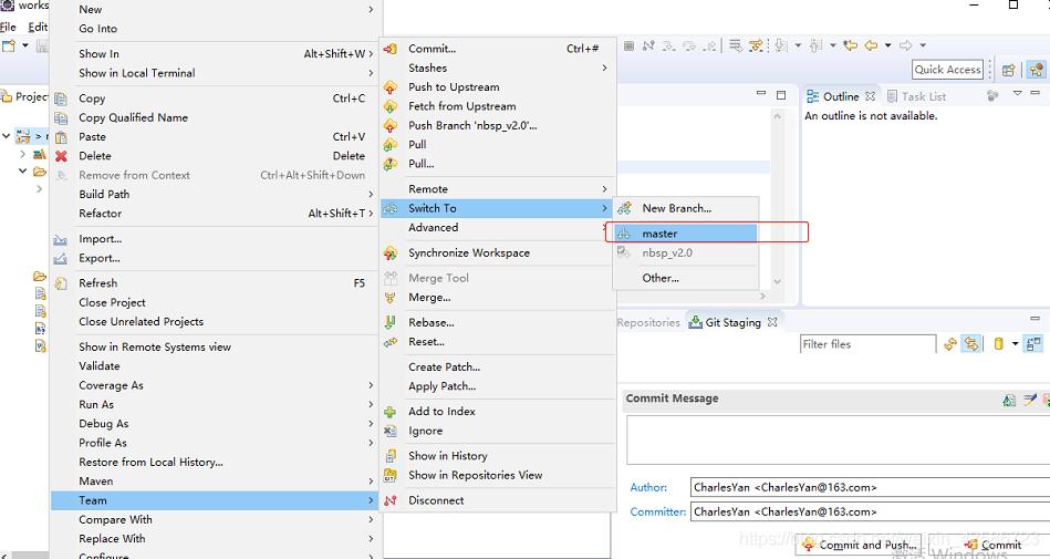 Eclipse整合Git发布分支到远程仓库_15