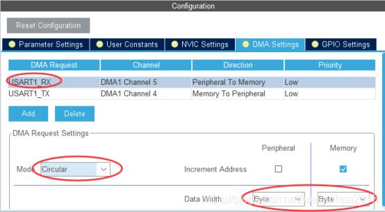 图1-5:DMA接收方式配置1