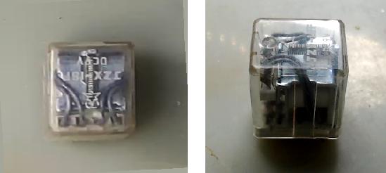 ▲ 被拆解的电磁继电器