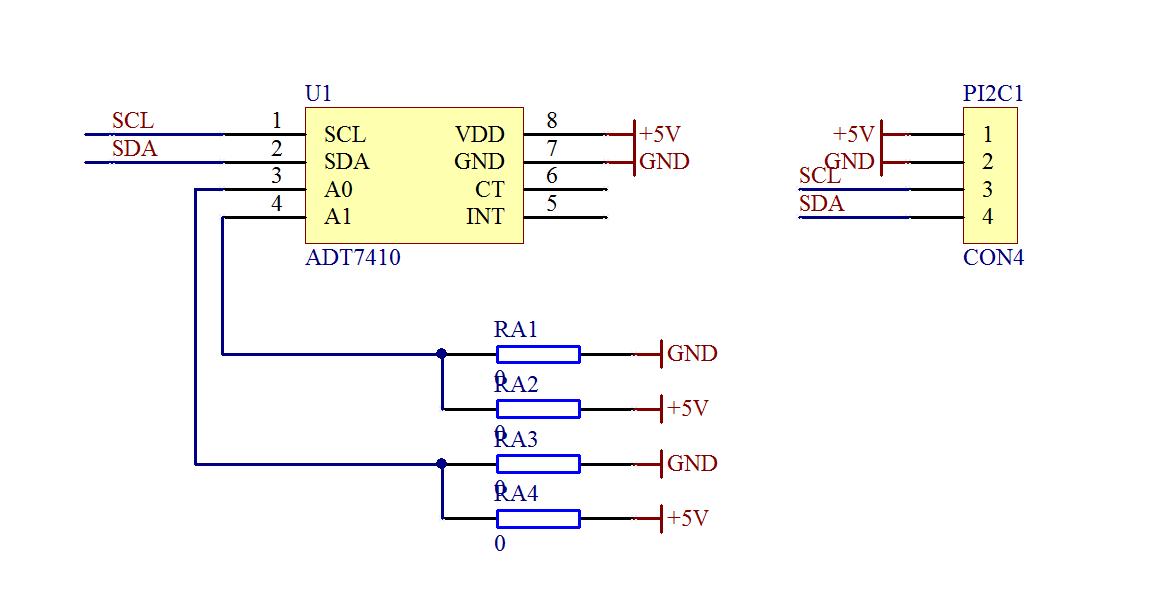 ▲ ADT7410芯片小板