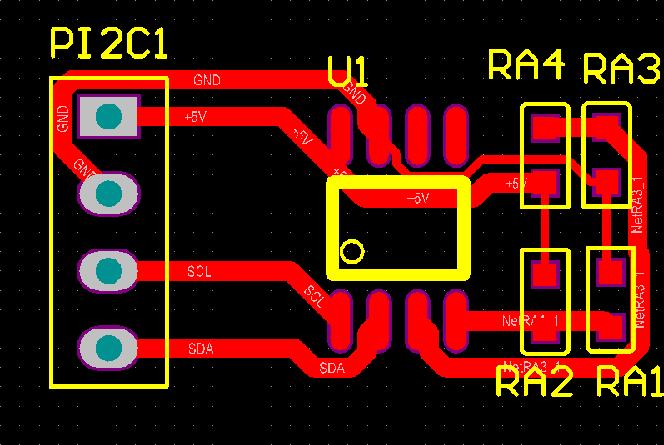▲ ADT7410 PCB板