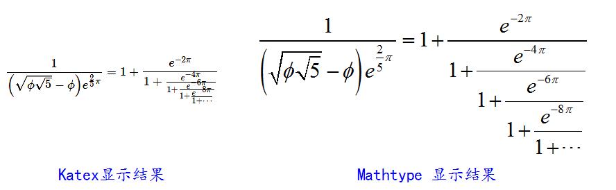 ▲ 对比CSDN中的公式与Mathtype显示的公式