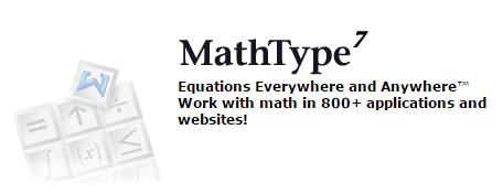 ▲ MathType数学公式输入软件