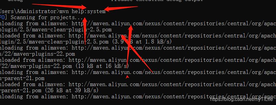 mvn help:system