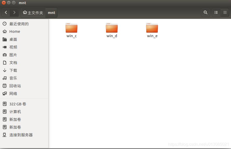 用于挂载windows系统分区的盘符