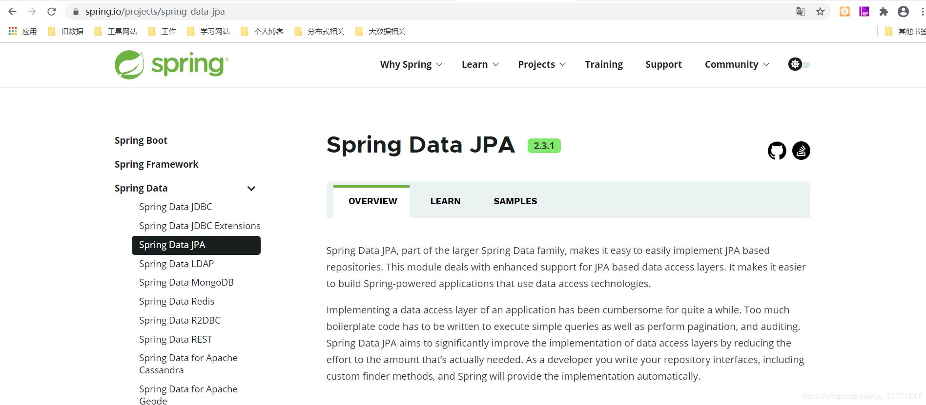 Spring Data JPA官方说明