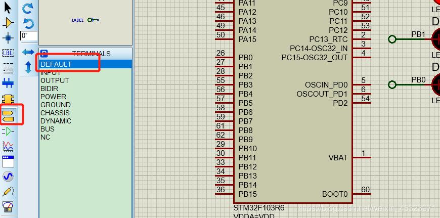 proteus 8添加具有电气连接作用的网络标签