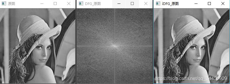 原图进行傅里叶变换,用频域图片还原原图