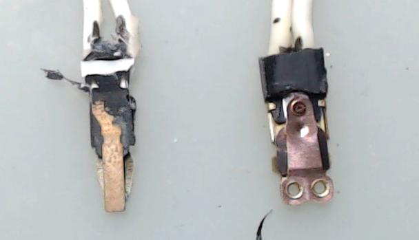 ▲ 热继电器内部的双金属片结构